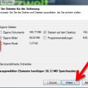 """Aus dem Windows-Standardordner für Ihre eigenen Dateien wählen Sie die Daten aus, die Sie sichern möchten. Aktivieren Sie dafür das Häkchen vor den Datenbereichen. Alternativ sichern Sie beliebige Ordner der Festplatte, indem Sie den Punkt vor """"Benutzerdefinierte Ordnerliste"""" aktivieren und die Verzeichnisse auswählen. An dieser Stelle erstellen Sie auch Backups von anderen Geräten im lokalen Netzwerk wie einem NAS-Speicher. (Bild: Screenshot)"""