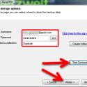 """Geben Sie die Zugangsdaten für die Cloud ein. Außerdem müssen Sie für die Speicherung des Backups ein Verzeichnis unter """"Collection"""" angeben. Falls dieses noch nicht vorhanden ist, wird der Ordner angelegt. Mit dem Button """"Test Connection"""" prüfen Sie, ob alle Daten korrekt eingegeben wurden. Klicken Sie auf """"Weiter >"""", um fortzufahren. (Bild: Screenshot)"""