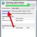"""Starten Sie den Wiederherstellungsassistenten, indem Sie das Statusfenster mit einem Klick auf das Duplicati-Icon in der Taskleiste aufrufen und den Link """"Duplicati Assistent"""" aufrufen. (Bild: Screenshot)"""