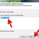 """Jetzt wählen Sie die Sicherung aus, aus der Sie Dateien wiederherstellen möchten. Klicken Sie danach auf """"Weiter >"""". (Bild: Screenshot)"""