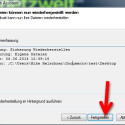 """Mit einem Klick auf """"Fertigstellen"""" starten Sie die Wiederherstellung. (Bild: Screenshot)"""