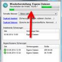 Über das Statusfenster, welches Sie mit einem Klick auf das Duplicati-Icon aufrufen, sehen Sie den Fortschritt der Wiederherstellung. (Bild: Screenshot)