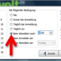 """Wenn Sie das konfigurierte Backup zukünftig automatisch bei bestimmten Ereignissen ausführen möchten, wählen Sie zunächst einen Auftragsspeicher. Danach legen Sie im mittleren Feld fest, bei welchem Ereignis Ihre Daten gesichert werden sollen. Sinn macht beispielsweise die Sicherung Ihrer Daten beim Abmelden. Je nach Umfang der Datenänderungen erstellen Sie das Backup entweder täglich oder beispielsweise nur einmal in der Woche an jedem Freitag. Klicken Sie anschließend auf """"Fertig"""". (Bild: Screenshot)"""