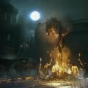 Typisch für die Rollenspiele von From Software zeichnet auch Bloodborne ein sehr finsteres Bild der Spielwelt. (Bild: Sony)