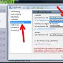 """Wechseln Sie in den Einstellungen auf den Punkt """"Synchronisierung"""". Hier finden Sie auf der rechten Seite für Kontakte, Termine und Aufgaben sowie Notizen ein Auswahlfeld. Je nach installierter Software wählen Sie hier das Programm aus, mit dem Sie Ihre Daten synchronisieren möchten. Nutzen Sie beispielsweise """"Mozilla Thunderbird"""", so finden Sie den E-Mail-Client in der Liste. (Bild: Screenshot)"""