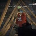 Durch einen zu Fall gebrachten Kran eröffnet sich mir und meinen kriminellen Kompagnons ein bequemer Fluchtweg. Ein echtes Highlight der High Tension-Map! (Bild: Screenshot/EA)