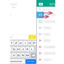 Einen Video-Live-Chat können Sie im Textchat starten. Zum Aufrufen des Textchats einfach im Sendeverlauf den Kontakt, mit dem Sie chatten möchten, berühren und nach rechts wischen. (Bild: Screenshot Snapchat-App)