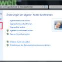 """Sie sollten unbedingt einen Kennwortzurücksetzungs-Datenträger erstellen. Das geht nur, wenn Sie in Ihrem Konto eingeloggt sind. Klicken Sie dafür auf """"Systemsteuerung"""" → """"Benutzerkonten und Jugendschutz"""" → """"Benutzerkonten"""" → """"Kennwortrücksetzdiskette erstellen"""". Als Datenträger müssen Sie keine Diskette verwenden. Möglich ist auch ein USB-Stick. (Bild: Screenshot/Windows)"""