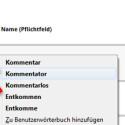 Rufen Sie die Webseite mit dem Eingabefeld erneut auf, indem Sie die Seite neu laden. Jetzt werden mögliche Rechtschreibfehler in Echtzeit mit einer roten Linie unterstrichen. Mit einem Rechtsklick auf das unterstrichene Wort rufen Sie sich Korrekturvorschläge auf, die Sie mit einem Klick darauf auswählen. (Bild: Screenshot/Mozilla Firefox)