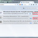 """Wechseln Sie links auf die Seite der Wörterbücher, indem Sie das Buch-Icon anklicken. Sie können die installierten Wörterbücher jetzt über einen Button """"Deaktivieren"""", """"Aktivieren"""" oder über die Schaltfläche """"Entfernen"""" vollständig löschen. (Bild: Screenshot/Mozilla Firefox)"""