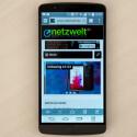 Das QHD-Display des LG G3 löste dagegen im Test keinen Wow-Effekt aus. (Bild: netzwelt)