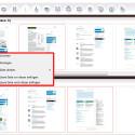 Um einzelne Seiten zu bearbeiten, klicken Sie diese mit der rechten Maustaste an. Es öffnet sich ein Kontextmenü, über welches Sie die Seiten unter anderem drehen können. Auch leere Seiten lassen sich auf diesem Weg einfügen. (Bild: Screenshot/PDF24 Creator)
