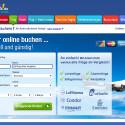 Neben Flügen bietet das Onlineportal auch Hotelübernachtungen, Ferienwohnungen oder komplette Urlaubsreisen an. Bei den von uns abgefragten Flugpreisen gehörte ab-in-den-urlaub.de zweimal zu den teuersten Anbietern. Nur der innerdeutsche Flug war bei ab-in-den-urlaub.de günstiger als bei den anderen Onlinereisebüros. Im Durchschnitt war der Anbieter am teuersten. (Bild: Screenshot)