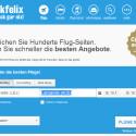 Checkfelix.com war in unserem Test der absolute Preisführer. Die angezeigten Preise waren immer niedriger als die Offerten der anderen Flug-Suchmaschinen und der getesteten Onlinereisebüros. Damit ist checkfelix.com für die Flugsuche absolut zu empfehlen. (Bild: Screenshot)
