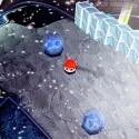 Befreit die blauen Kreaturen mit einem Dash-Angriff aus ihrem kalten Gefängnis. (Bild: Fuzzy Wuzzy Games)