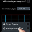 """Auf Wunsch überwachen Sie mit der Datennutzungseinstellung des Android-Betriebssystems auch die WLAN-Nutzung. Tippen Sie auf die Menü-Taste und setzen Sie das Häkchen hinter """"WLAN-Nutzung anzei.."""". Sie können dann zwischen WLAN und mobiler Internetverbindung mit zwei Buttons umschalten und sich den Verbrauch im WLAN anzeigen lassen. (Bild: Screenshot)"""