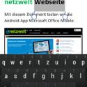 Tippen Sie auf das Pinsel-Icon, um Ihren Text grundlegend zu formatieren. (Bild: Screenshot / Microsoft Office Mobile)