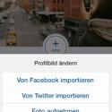 Anschließend haben Sie mehrere Möglichkeiten, wie Sie zu Ihrem Profilbild kommen. Wählen Sie eine aus. (Bild: Screenshot/Instagram)