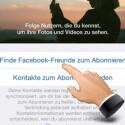 Im nächsten Schritt abonnieren Sie den Stream Ihrer Facebook-Freunde, damit Sie deren Fotos und Videos sehen. Diesen Schritt können Sie überspringen, wenn Sie Facebook nicht nutzen oder Ihre Konten nicht verbinden möchten. (Bild: Screenshot/Instagram)