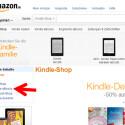 Dadurch wechseln Sie zu Amazon. Hier rufen Sie sich im Menü links die E-Books auf. (Bild: Screenshot/amazon.de)