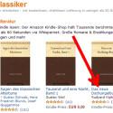 Wählen Sie sich das Buch aus, welches Sie gern lesen möchten und klicken Sie es an. (Bild: Screenshot/amazon.de)