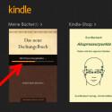 Wechseln Sie danach wieder in die Kindle-App. Dort wird das gekaufte Buch heruntergeladen. Den Fortschritt sehen Sie anhand des Ladebalkens. (Bild: Screenshot/Kindle-App)