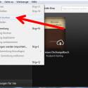 """Über die Menüleiste der Freeware rufen Sie sich die verschiedensten Funktionen auf. Unter anderem können Sie hier über """"Datei"""" die Bücher vom Computer löschen. (Bild: Screenshot/Kindle for PC)"""