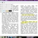 Markierungen und Notizen von anderen PCs, dem Kindle-Reader oder einem Mac werden durch die Synchronisationsfunktion übernommen. Auch die Lesezeichen werden übertragen. Über die Symbolleiste passen Sie die Software Ihren Wünschen an. Beispielsweise ändern Sie die Schriftgröße, die Helligkeit oder wählen einen anderen Farbmodus. (Bild: Screenshot/Kindle for PC)