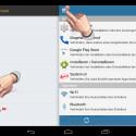 """Rufen Sie das Seitenmenü auf, indem Sie oben links auf die drei Balken tippen und wählen Sie anschließend """"Zeitsperre"""" aus. (Bild: Screenshot/Schützen (AppLock))"""