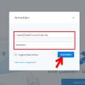 """So funktioniert der Login in zwei Stufen: Geben Sie auf der Webseite oder in einer App Ihre Dropbox-Zugangsdaten bestehend aus E-Mail-Adresse und Kennwort wie bisher ein. Tippen Sie dann auf """"Anmelden"""". (Bild: Screenshot/dropbox.com)"""