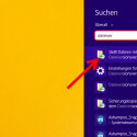 """Zuerst müssen Sie das Backup-Tool über die Suche von Windows öffnen. Tippen Sie in das Suchfeld """"Dateiversionsverlauf"""" ein und klicken Sie die App """"Stellt Dateien mit dem Dateiversionsverlauf wieder her"""" an. Leider lassen sich die Dateien nicht nach einem Rechtsklick auf die Datei oder den Ordner über das Kontextmenü des Windows Explorers wiederherstellen, wie dass bei den Windows-Vorgängerversionen möglich war. (Bild: Screenshot/Windows 8)"""