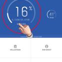 Auf dem Startbildschirm sehen Sie übersichtlich, wie viel Speicherplatz auf Ihrem Smartphone noch frei ist. Rechts daneben wird die Auslastung des RAM-Speichers dargestellt. Tippen Sie auf den Speicher, um Details anzusehen. (Bild: Screenshot/Clean Master)