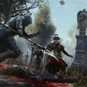 Assassinen kämpfen im neuen Teil mit allerlei Waffen; hier eine Hellebarde. (Bild:  Ubisoft)