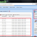 Unterhalb der Navigation finden Sie die Verzeichnisse des internen Speichers und die darin gespeicherten Dateien. Rechts daneben bekommen Sie einen Überblick über den freien Speicher. (Bild: Screenshot / WiFi File Transfer)