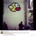 Bis in die Straßen von Paris hat es Flappy Bird schon geschafft. (Bild: Nathan Millard/Twitter)