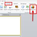 """Wählen Sie die Folie aus, auf der das Diagramm dargestellt werden soll. Oben im Programm rufen Sie den Reiter """"Einfügen"""" auf. Im Feld """"Illustrationen"""" klicken Sie auf die Schaltfläche """"Diagramm"""". (Bild: Screenshot/Microsoft PowerPoint 2010)"""