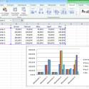 Das Diagramm wird anhand Ihrer Excel-Tabelle erstellt und dargestellt. Welche Daten einbezogen werden, sehen Sie an der Umrandung Ihrer Daten durch das Programm. (Bild: Screenshot/Microsoft Excel 2010)