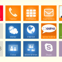 Der Startbildschirm des asina-Tablets kann frei konfiguriert werden. (Bild: Screenshot)