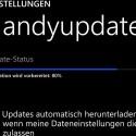Laden Sie das Update über die Einstellungen herunter. Verwenden Sie hierfür aufgrund der Größe eine WLAN-Verbindung. (Bild: Screenshot Lumia 1020)