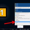 """Mit einem Rechtsklick auf das System-Tray-Icon rufen Sie sich das Menü der Shareware auf. Um zu den allgemeinen Optionen zu gelangen, klicken Sie zunächst auf """"Konfigurieren"""" und anschließend auf """"Allgemeine Optionen"""". (Bild: Screenshot/DeskSpace)"""
