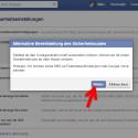 """Auch den Hinweis zur alternativen Bereitstellung von Sicherheitscodes bestätigen Sie mit einem Klick auf """"Weiter"""". (Bild: Screenshot / Facebook)"""
