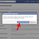 Bestätigen Sie, dass der Codegenerator der Facebook-App nicht verwendet werden soll. (Bild: Screenshot / Facebook)