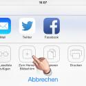 """Um eine Verknüpfung auf dem Homescreen Ihres iPhone zu erstellen, tippen Sie auf """"Zum Home-Bildschirm"""". (Bild: Screenshot/Safari-Browser)"""
