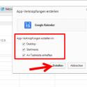 Es öffnet sich ein Fenster. Im oberen Bereich sehen Sie, für welche Internetseite Sie im Begriff sind, eine App-Verknüpfung zu erstellen. Sie wählen an dieser Stelle aus, ob Sie diese Verknüpfung nur auf dem Desktop erstellen möchten. Alternativ legen Sie auch eine Verknüpfung im Startmenü und in der Taskleiste an. So lässt sich die Webseite bei einem vollen Desktop noch schneller aufrufen. (Bild: Screenshot/Google Chrome)