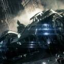 Das Batmobil feiert in Arkham Knight Premiere.