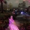 Dank Neonwolken, die in der US-amerikanischen Großstadt verteilt, mich beim Durchschreiten noch schneller flitzen lassen, entwickelt sich ab der ersten Minute ein anständiger Flow. (Bild: Screenshot, Sony)