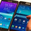 Wer nicht die neueste Hardware braucht findet im Note 3 (rechts) eine günstige Alternative zum Top-Phablet Galaxy Note 4 (links).