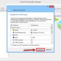 """VirtualBox startet. In einem neuen Fenster wird sofort die Import-Routine ausgeführt. Die vorgeschlagenen Einstellungen solltest du so übernehmen. Starte den Prozess mit einem Klick auf """"Importieren""""."""