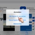 """Da du nicht angemeldet bist, musst du dich jetzt erneut mit deiner Apple-ID anmelden. Tippe dazu auf """"Mit Apple-ID anmelden""""."""