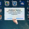 """Durch die Deinstallation werden auch alle Daten gelöscht. Falls die App wichtige Daten enthält, die nicht in der Cloud liegen, so solltest du diese vorher sichern. Tippe auf """"Löschen"""", wenn die Daten gesichert sind und die Anwendung deinstalliert werden kann."""